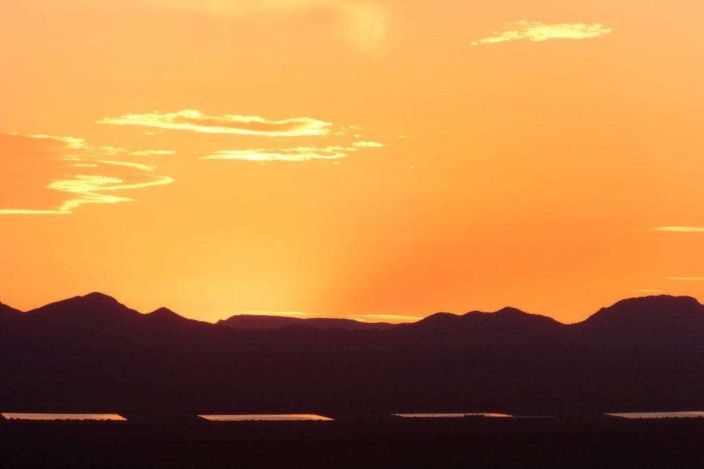 夕焼けの景色